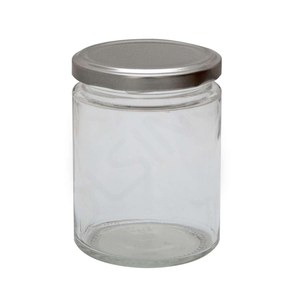 Tarro de vidrio Simply 314 mL ∅ 70 con tapones (unid. 24)