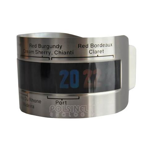 Termómetro de pulsera para botellas