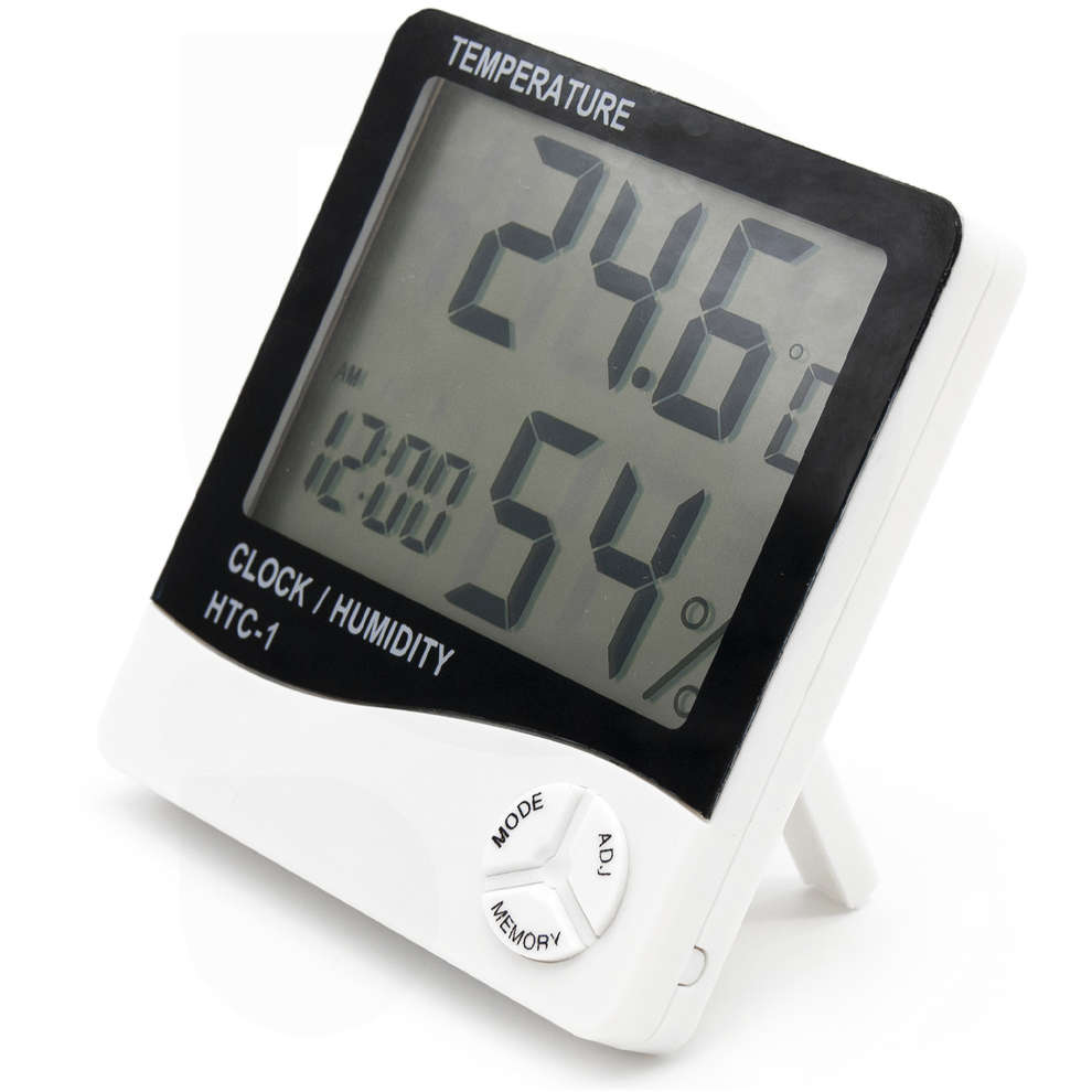 Termoigrometro digitale con orologio