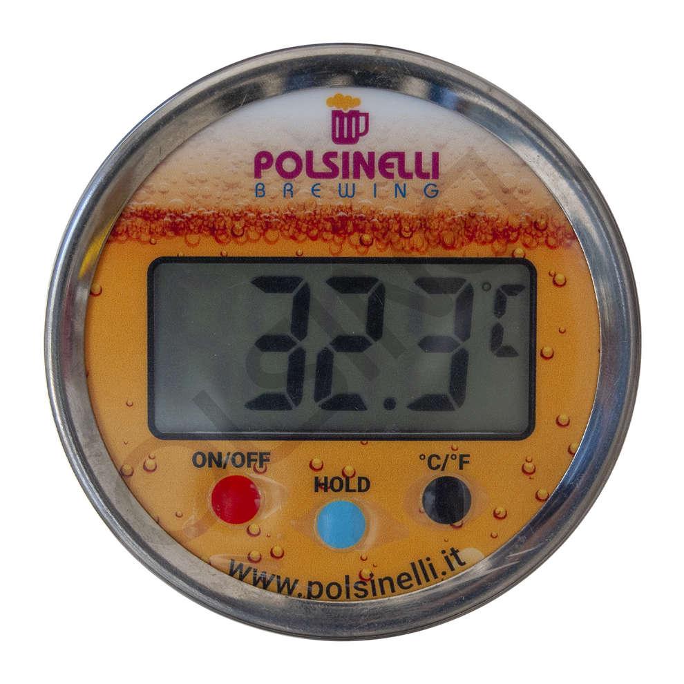 Termometro digitale con pozzetto inox AISI 304 - 100 mm