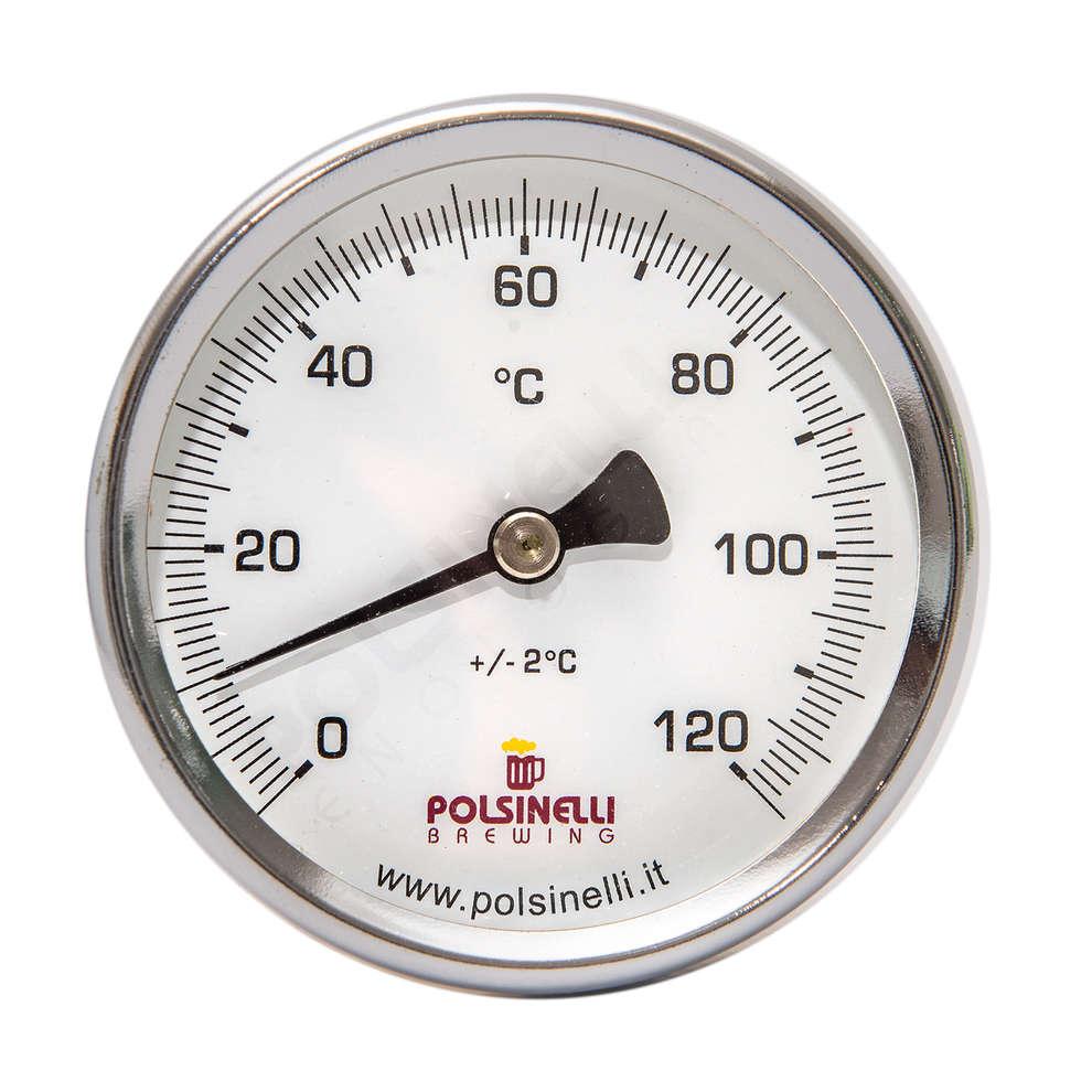 Thermomètre long  avec doigt de gant inox AISI 304 - 110 mm