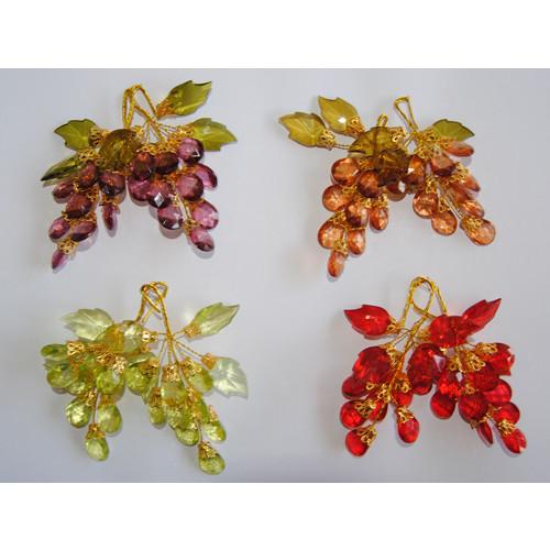 Uvas decoración diamante (2 piezas)