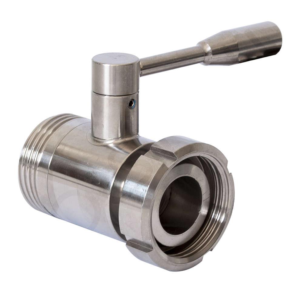 Valvola a sfera in acciaio inox AISI 304 DIN 32 M