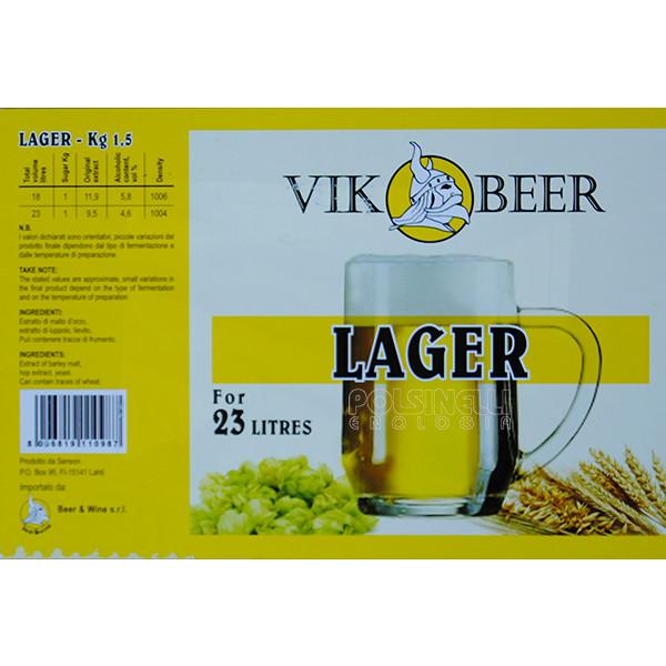 Vik malta Cerveza Lager (1,5 kg)