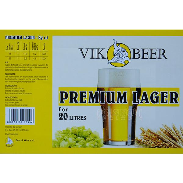 Vik malta cerveza Premium Lager (1,5 kg)