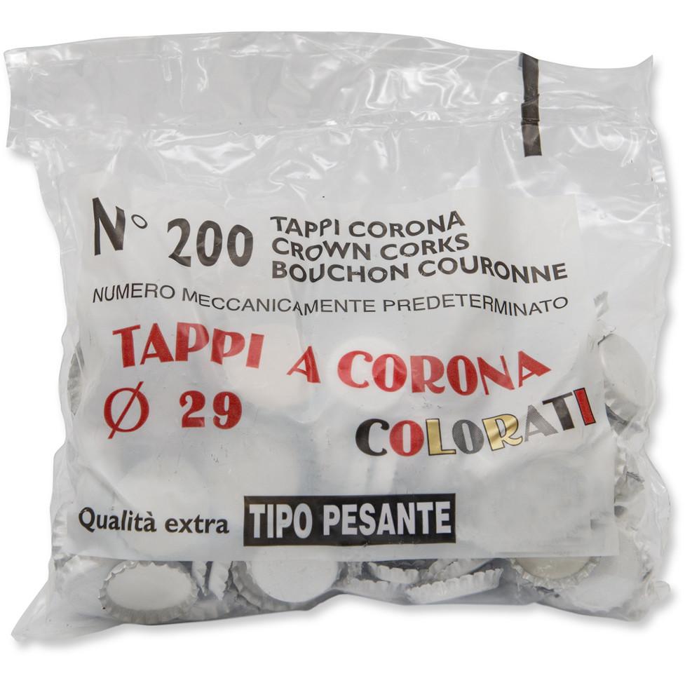 weiße Kronkorken ⌀29 (200 Stück)