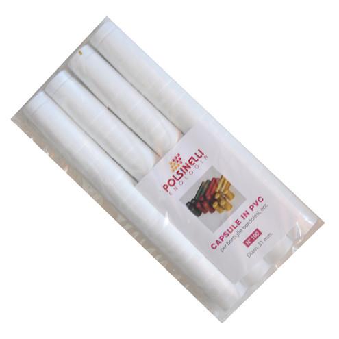 White PVC capsule ⌀31 (100 pcs)