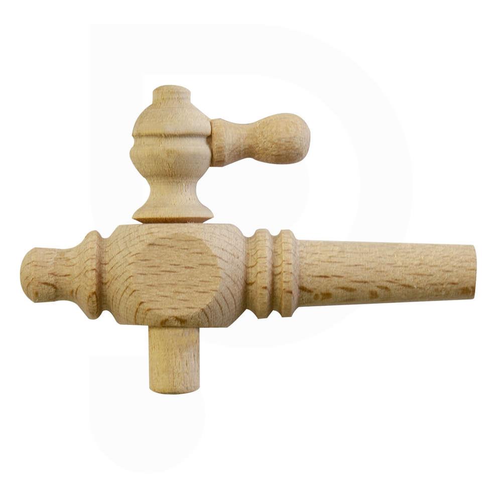 Wooden Marsalino spigot of 6
