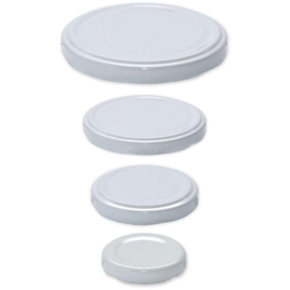 Zinndeckel für Gläser (100 Stück) ø 43